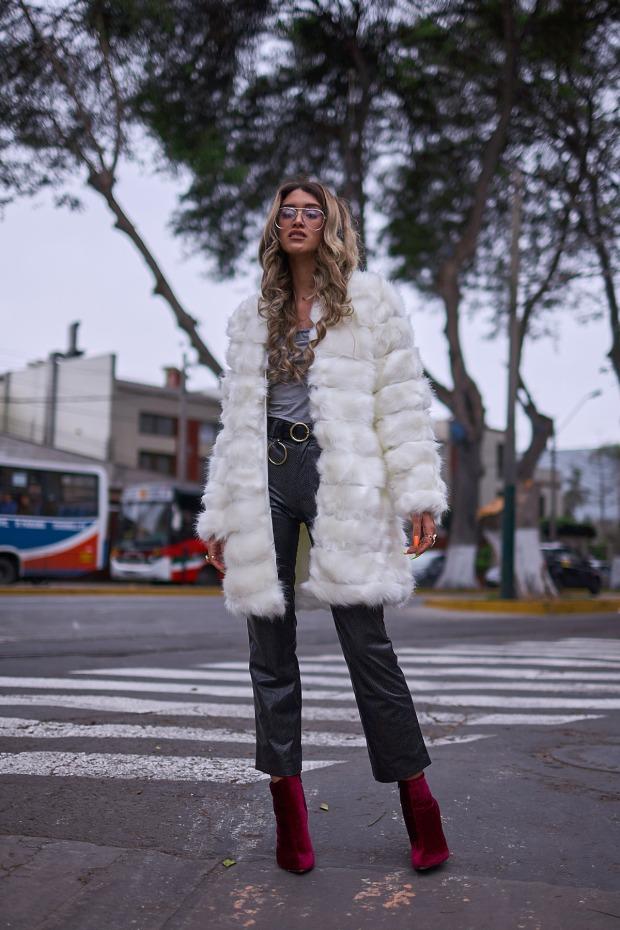 White faux fur coat yoins delilac andrea chavez look (12)