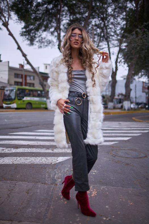 White faux fur coat yoins delilac andrea chavez look (2)