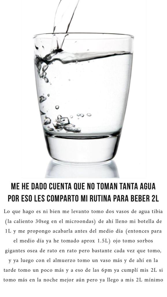 tips para beber 2l de agua al dia delilac